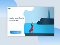 Sea lighthouse Scenery Illustration