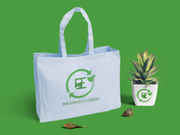Bhoomi Eco green - a solid waste management company logo .