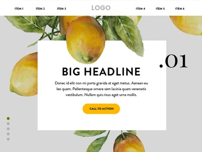 Lemons ui design fruit produce food web design homepage ux ui lemons yellow