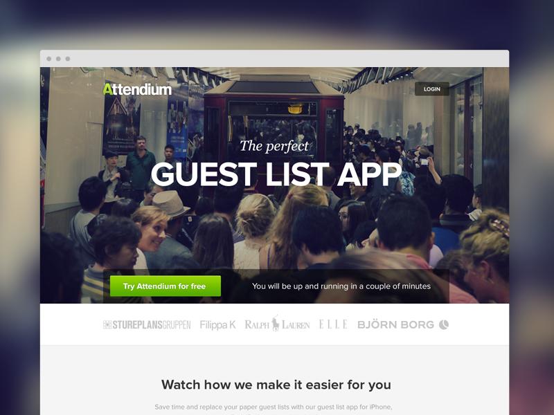 guest list app wip by andrée afonso dribbble dribbble