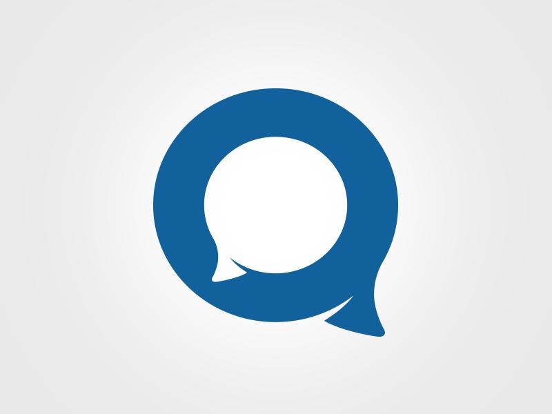 Q - new draft for Qnekt (connect) app design logo q ui photoshop illustrator connect chat