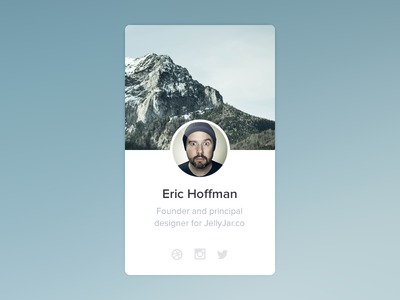 Profile widget - part of UI kit