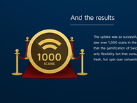1000 Scans on a medal!