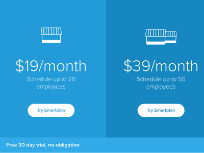 Smartplan Pricing - Employee Scheduling smartplan employee scheduling blue pricing shop