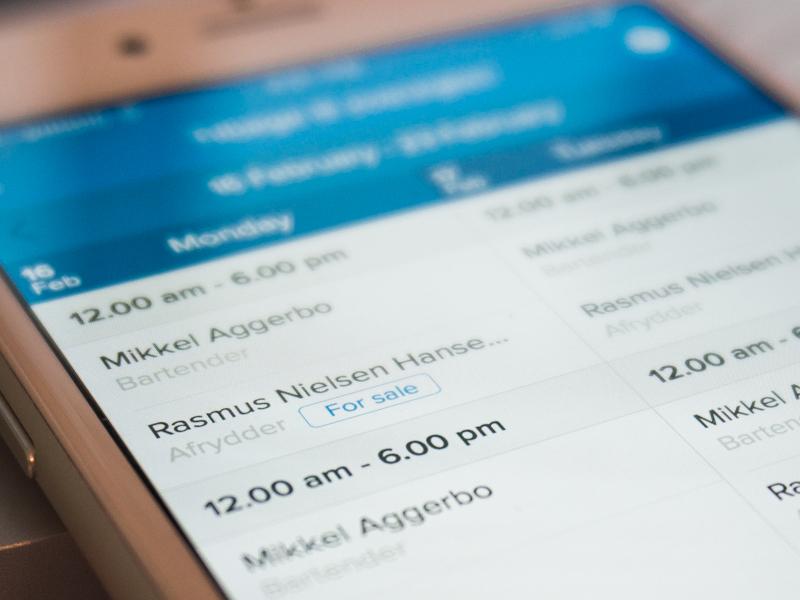 Smartplan on mobile smartplan employee scheduling blue webapp mobile schedule
