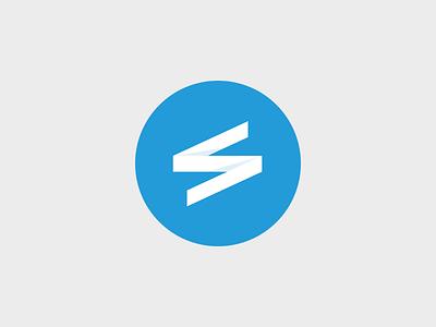 Logo concept logo blue smartplan round