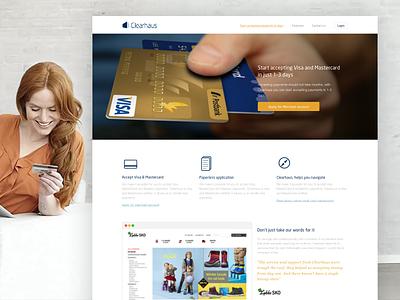 Merchant website website webdesign merchant credit card