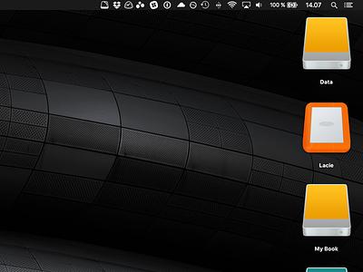 Lacie icon for mac desktop orange rugged custom icon lacie