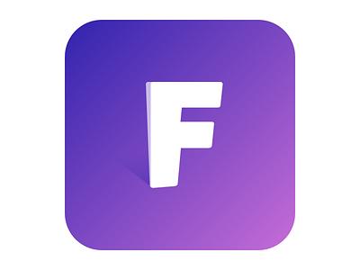 Not flat! icon app icon