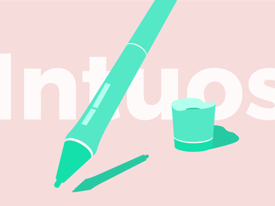 Summer Intuos pen tablet create creative flat colors design stuff intuos wacom