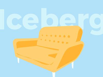 Summer Iceberg Sofa retro maisons du monde mdm summer comfy flat colors design stuff sofa iceberg