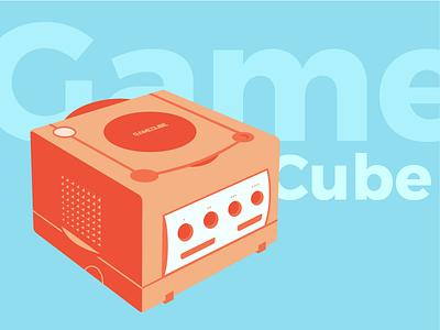 Summer GameCube retro stuff gaming console video game console nintendo gamecube nintendo gamecube flat design colors