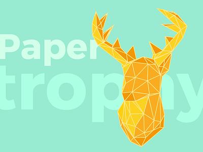 Summer Papertrophy paper origami stag deer animal trophy paper trophy papercraft paper craft papertrophy design colors