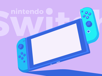 Summer Nintendo Switch stuff video game nintendo switch nintendo gaming console switch flat design console colors