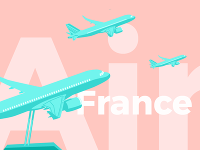 Summer Air France flight airliner figurine airline figurine vacation airline holiday travel airplane plane air france colors