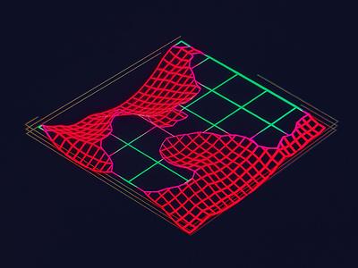 Ra Construction Grid /// interface cyber scifi cg hologram 3d ux ui houdini