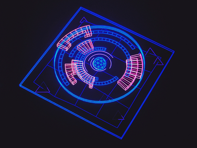 Sigma Gyro /// interface cyber scifi cg hologram 3d ux ui houdini