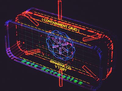 Synastar Data Extractor /// interface cyber scifi cg hologram 3d ux ui houdini