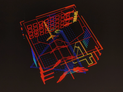 Synthetic Containment Grid /// interface cyber scifi cg hologram 3d ux ui houdini