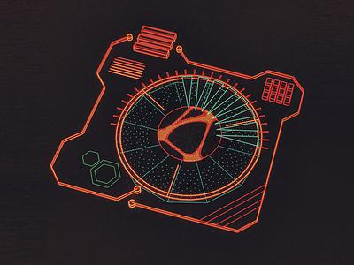 Vareo Fractal Analyzer /// 3d vr hologram scifi interface fui ui houdini