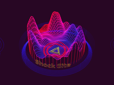 Shock Site /// 3d vr hologram scifi interface fui ui houdini
