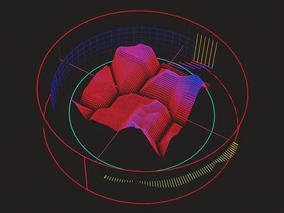 Fractal Phase Signature /// 3d vr hologram scifi interface fui ui houdini