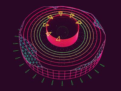 Degraded Disk /// 3d vr hologram scifi interface fui ui houdini