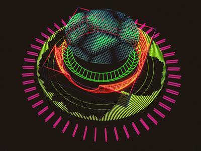 Gamma Potentiometer /// 3d vr hologram scifi interface fui ui houdini