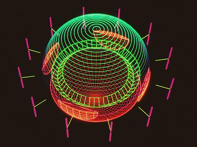 Sigma Potentiometer /// 3d vr hologram scifi interface fui ui houdini
