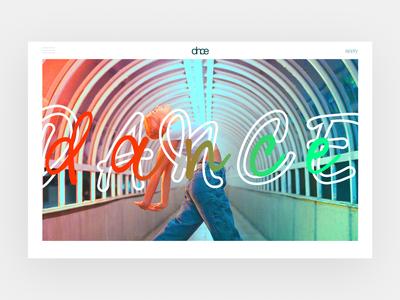 Dance website typography web ui design ux