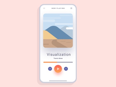 Audio Player minimal illustration ios app design ui ux