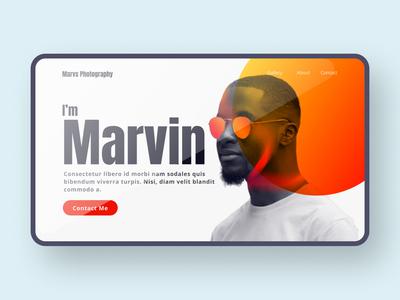 Photographer 2 minimal comp edit photoshop gradient photographer hero website typography web design ui ux