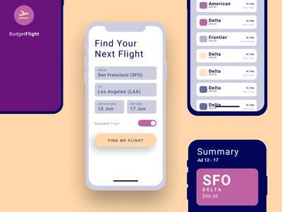 Flight flight iphone ios mobile uid app design ui ux