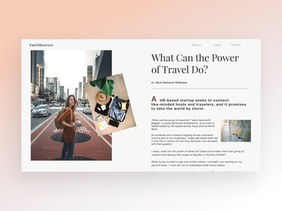 Travel Blog 2 web type travel blog minimal website typography design ui ux