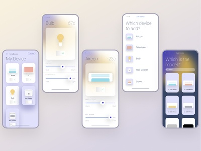Smart Home UI ios14 iphone typography smarthome android ios mobile design mobile ui mobile app mobile app design ui ux