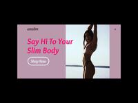Type Study store shop vitamins slim photography unsplash woman diet minimal website typography web app design ui ux