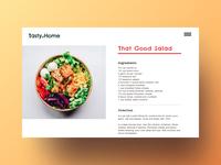 Food Blog food photography blog type minimal website typography web app design ui ux