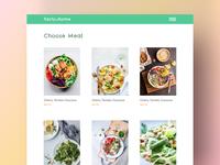 Food store grid store food type website typography web app design ui ux