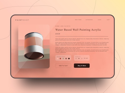 Paint Shop type website typography web app design ui ux