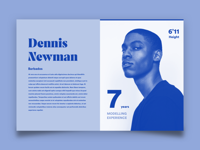 Modelling Card v2 by cilm on Dribbble