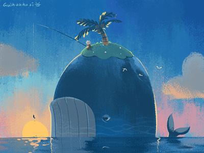 鲸鱼(胖) illustration