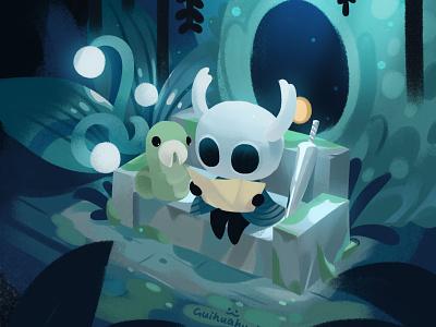 Hollow Knight blue illustration