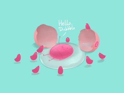 New Shot - 09/01/2017 at 01:54 PM dribbble hi egg lovely illustration