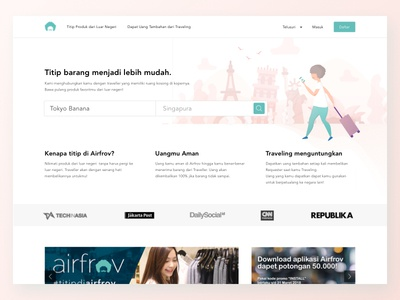 Airfrov Landing Page Redesign Concept