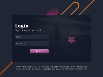 Login ux ui trackers ny photoshop login