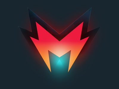 M - Logo for a Twitch Gammer icons logo