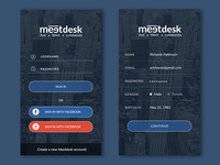 Meetdesk Sign Up & Sign in Mockup (Coming Soon)