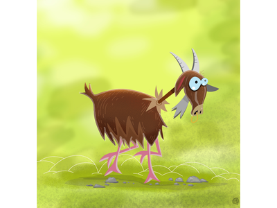Frank the Goat freelance illustrator goat animals cartoon drawing characters affinity designer illustration