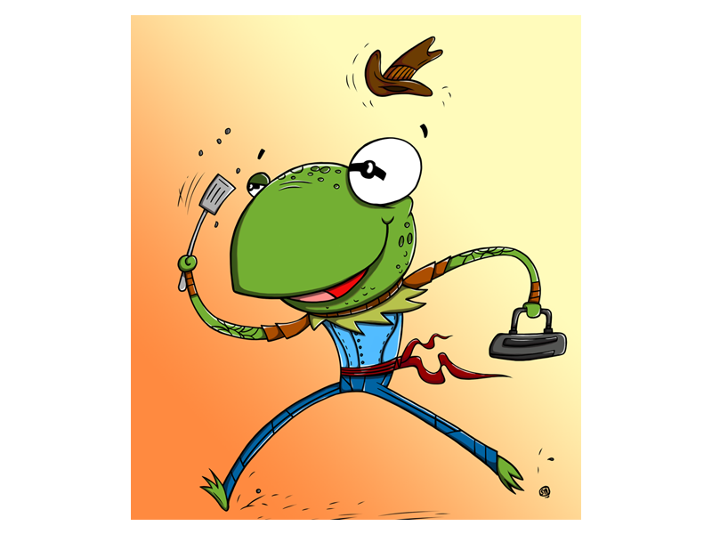 Kermie wants to be a cowboy! kermit cartoon fanart characters photoshop illustration muppets