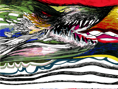 The Wolf Spirit wolf conceptual art illustration colored pencils markers